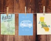 Postcards, Postcard set, Watercolor art, Travel art