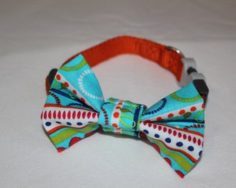 Abstract With Dots Dog Bowtie