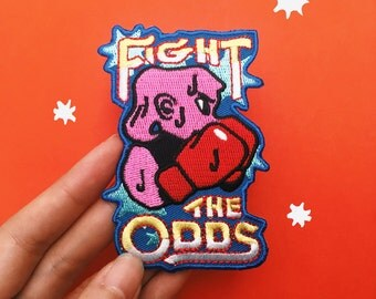 Fight the Odds embroidered patch