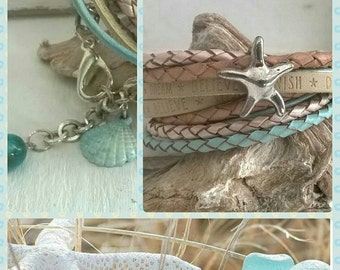 Leather Bracelet style ⭐ Beach
