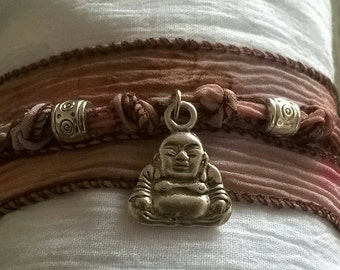 Buddha ⭐ bracelet of ⭐ Silk Ribbon
