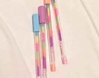 Multi-Coloured Rainbow Gel Pen