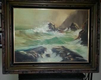 Original Oil Painting Waves