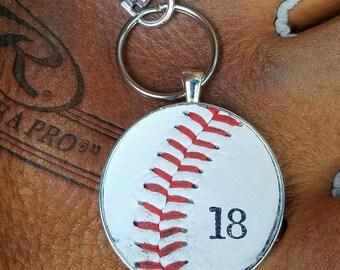 Baseball Bag Pull, Baseball Zipper Pull, Real Baseball Bag Pull, Real Baseball Zipper Pull, Sports Bag Pull, Sports Zipper Pull