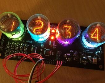 Colorful 4-Digit Intelligent Nixie Tube Display