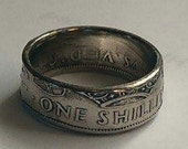 1946 one shilling coin ring