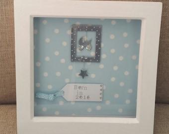 Handmade new baby frame 7x7