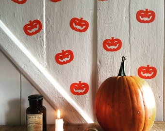 Pumpkin  Decals~ Party Decor~  Halloween Party Decor~ Halloween Decorations~ Pumpkin Stickers~ Halloween Stickers~ Halloween Decals