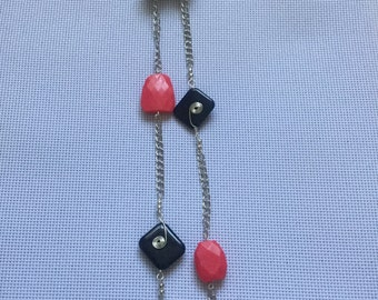 Pink and Blue Chunky Necklace
