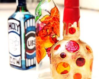 painting handmade bottle