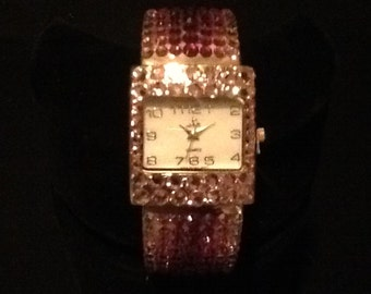 Pink Crystal Watch