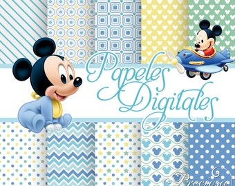 Papers digital Mickey Mouse Baby