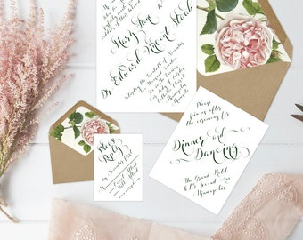 The Mary Suite - Printable Wedding Invitation Set