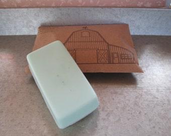 Refreshing peppermint bar soap