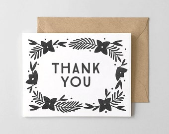Lily Letterpress Thank You Card