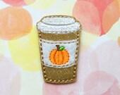Felties, Pumpkin Spice Latte Felties, Pumpkin Coffee, Fall Felties, Food Felties, Glitter Felties, Vinyl Felties