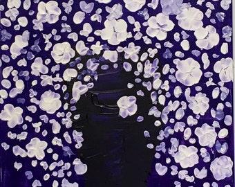 Canvas 29, Purple Vase