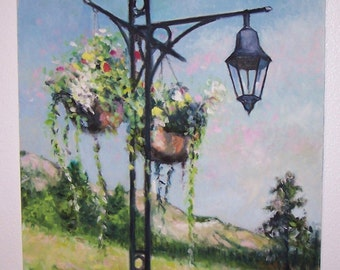 Lamppost at Summertime