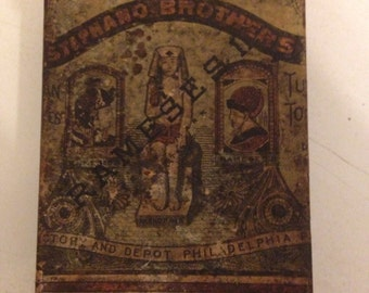 Vintage Stephano Brothers Rameses II / 50 cigarette tin