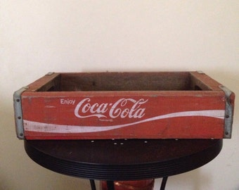 Vintage Coca Cola 1979 Temple Chattanooga made wooden crate