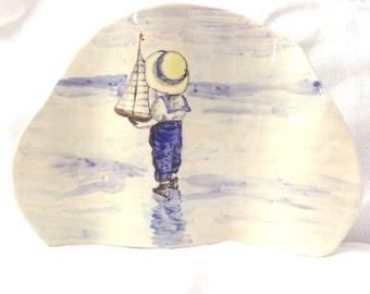Blue Boy Ceramic Picture