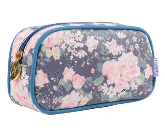 TaylorHe Make-up Bag Cosmetic Case Pencil Case Tea Rose Romance.