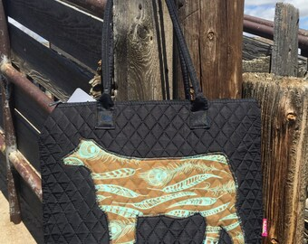 Feather Show Steer Tote