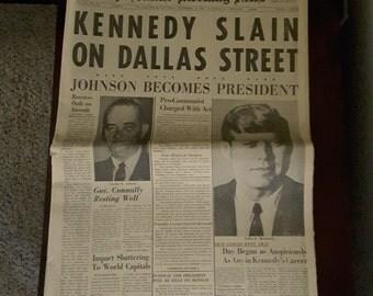 Original 5 JFK Newspapers