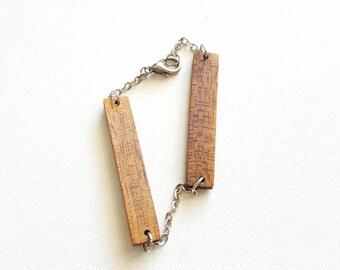 Handmade Wooden Geometric Bracelet