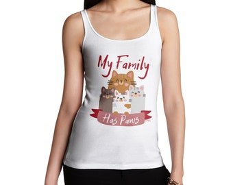 Women's My Family Has Paws Tank Top