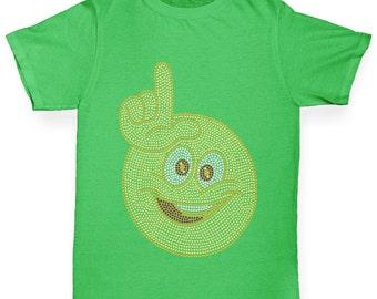 Boy's Loser Smiley Face Rhinestone T-Shirt