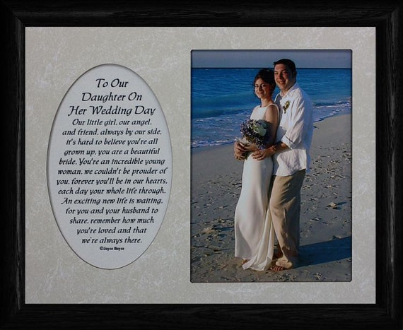 Gifts For Your Daughter On Her Wedding Day: 8x10 To Our DAUGHTER On Her WEDDING DAY