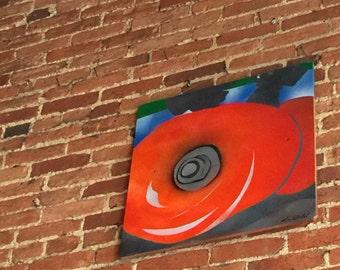 Neon orange Wheels by Lorraine Imwold