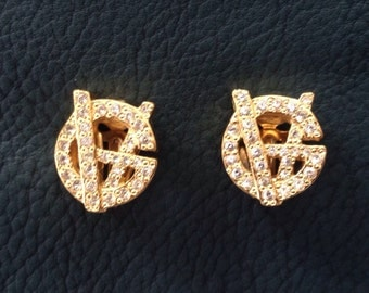 Original Gianni Versace earrings/Ohrringe