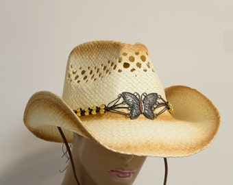Straw Cowgirl hat,