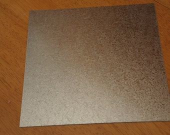 """Galvanized Steel Sheet 0.5mm Thick, 2 Sizes, 8"""" x 8"""" and 6"""" x 6"""", Hot Pad - (Contact shop to request actual ship cost for multi items)"""