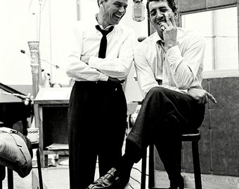 Rat Pack Alums Frank Sinatra and Dean Martin in the Studio - 5X7 or 8X10 Photo (DA-325)