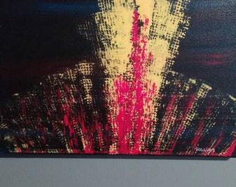 "Eruption - 11""x14"" original acrylic painting on canvas"