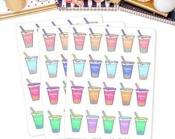 Bubble Tea Planner Sticker