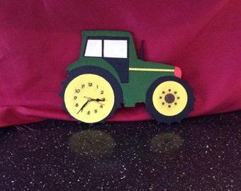 Tractor novelty clock