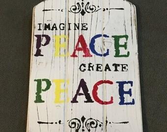 The Imagine Peace Plaque