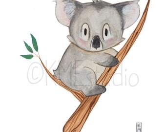 Koala - Australian Animal Nursery Watercolour Print