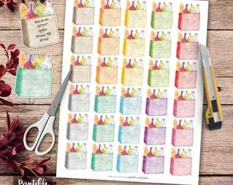 Grocery List Printable Planner Stickers, Groceries Planner Stickers, Erin Condren Planner Stickers, Shopping List Planner Stickers