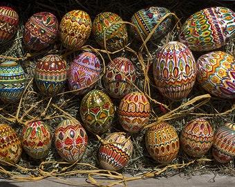 Easter eggs handpainted