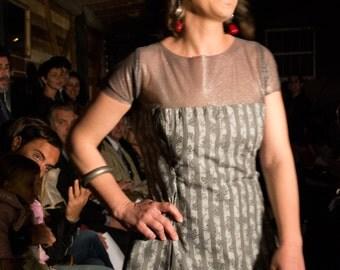 short cotton tulle dress elasticcizzato
