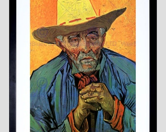 Painting Van Gogh Portrait Patience Escalier 1888 Old Art Print FE2890OM