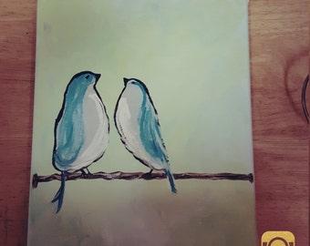 blue birds on powerline