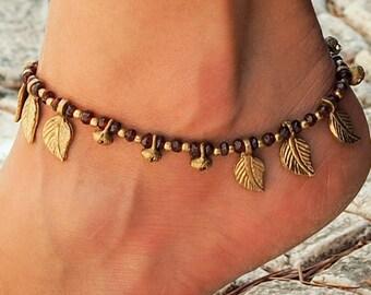 Women Anklet // Handmade Garnet Anklet // Ankle Bracelet For Women // Hippie Anklet // Beach Anklet // Indian Anklet // Made To Order Anklet