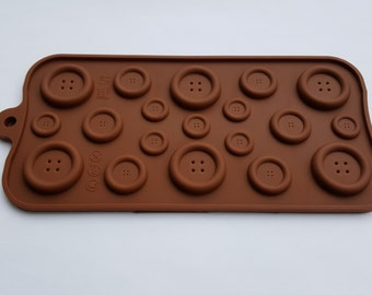 Button Candy or Fondant Mold