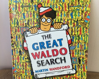 The Great Waldo Search, book, by Martin Handford, vintage 1989